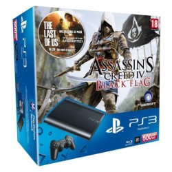 SONY PS3 Ultra Slim 500 Go pack Assassin's Creed Black Flag