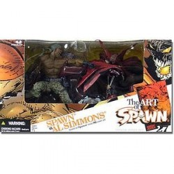 McFarlane's Spawn The Art of Spawn Série 27 Deluxe Al Simmons Versus Spawn