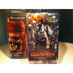 Neca Pirates des Caraibes Serie 3 Le Coffre Maudit Cannibal Jack Sparrow
