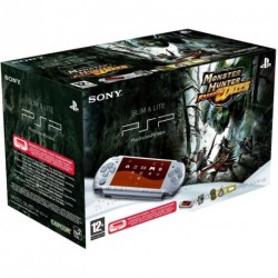 SONY PSP 3000 Mystic Silver + Monster Hunter Freedom Unite